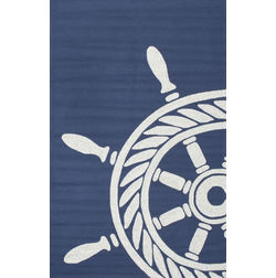 Floor Carpet and Rugs Hand Tufted, The Rug Concept Navy Carpets Online Tbilisi 6069-L, navy blue, 3ft x 5ft