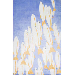 Floor Carpet and Rugs Hand Tufted, The Rug Concept Blue Carpets Online Tbilisi 6026-S, blue, 3ft x 5ft