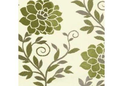 Romania Floral Curtain Fabric - 14, green, fabric