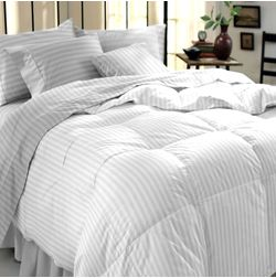 Satin Bed sheet 300 Thread Count with Two Pillowcovers, 100% Cotton, double, white