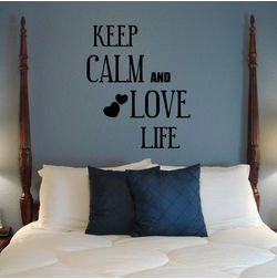 Kakshyaachitra Keep Calm and Love Life Wall Stickers For Bedroom And Living Room, 24 48 inches