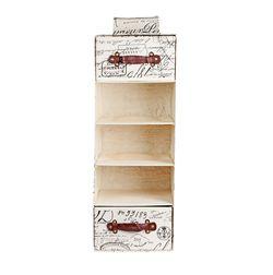 Calligrphy print Wardrobe Organiser,  snowbound white
