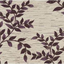 Raindrop Floral Curtain Fabric - 44, purple, fabric