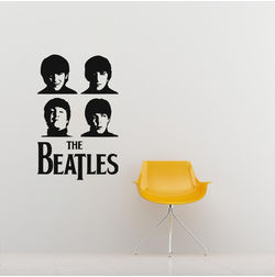 Kakshyaachitra The Beatles Wall Stickers For Bedroom And Living Room, 16 24 inches