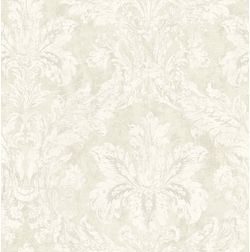 Elementto Wallpapers DaMask Design Home Wallpaper For Walls ew71000-4, ivory