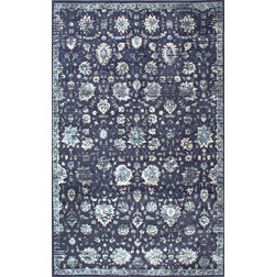 Floor Carpet and Rugs Hand Tufted, The Rug Concept Navy Carpets Online Tbilisi 6058-S, navy blue, 3ft x 5ft