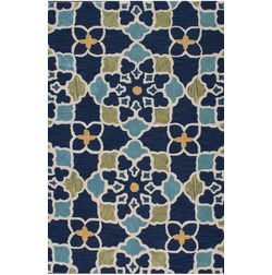 Floor Carpet and Rugs Hand Tufted, The Rug Concept Navy Carpets Online Tbilisi 6054-S, navy blue, 3ft x 5ft