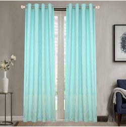 Dreamscape Poly Cotton Geometric, lt blue, door
