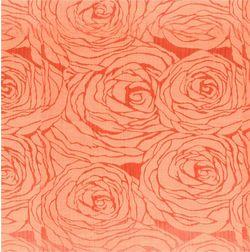Constellation Floral Curtain Fabric - 106, orange, fabric