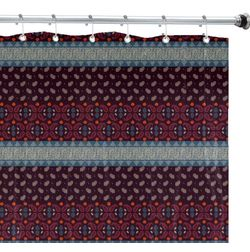 Shower Curtain, maroon