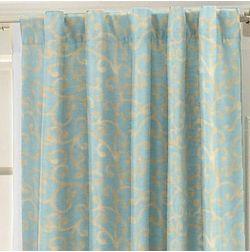 Jiya Classsic Readymade Curtain - ETHL911, door, blue