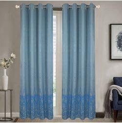 Dreamscape Poly Cotton Geometric, blue, door