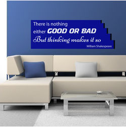 Kakshyaachitra There's Nothing Either Good or Bad quote Wall Stickers For Bedroom And Living Room, 76 24 inches