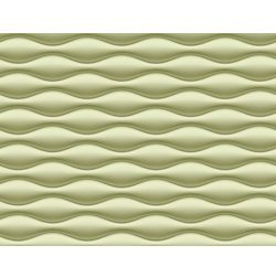 Elementto Wave Design Modern 3D Wallpaper for Walls - td31700, green