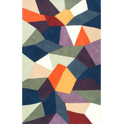 Floor Carpet and Rugs Hand Tufted, The Rug Concept Multi Carpets Online Tbilisi 6040-L, 3ft x 5ft, multi