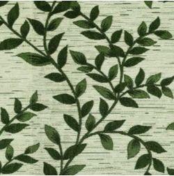 Raindrop Floral Curtain Fabric - 31, green, fabric