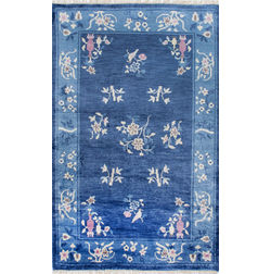 Floor Carpet and Rugs Hand Tufted, The Rug Concept Blue Carpets Online Tbilisi 6007-M, blue, 3ft x 5ft