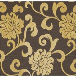 Rangshri Floral Curtain Fabric - 21, gold, fabric