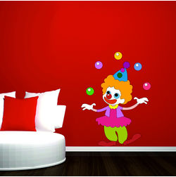 Kakshyaachitra The Jiggling Joker Wall Kids Wall Stickers, 48 65 inches