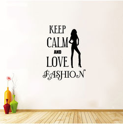 Kakshyaachitra Keep Calm and Love Fashion Wall Stickers For Bedroom And Living Room, 19 24 inches