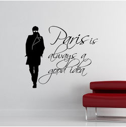 Kakshyaachitra Paris is always a good Idea Wall Stickers For Bedroom And Living Room, 48 41 inches