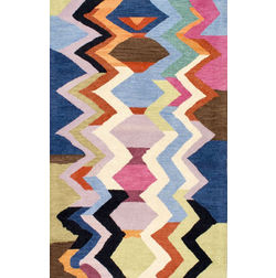Floor Carpet and Rugs Hand Tufted, The Rug Concept Multi Carpets Online Tbilisi 6023-M, multi, 3ft x 5ft