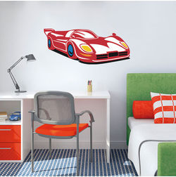 Kakshyaachitra Speed Racer Car Kids Wall Stickers, 24 10 inches