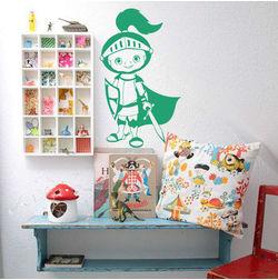 Kakshyaachitra Cute Little Knight Kids Wall Stickers, 14 24 inches