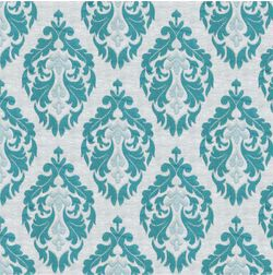 Tiara Classic Curtain Fabric - 27, blue, fabric