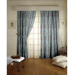Sonalika Floral Readymade Curtain - 9, door, blue