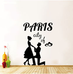 Kakshyaachitra Paris City of Love Wall Stickers For Bedroom And Living Room, 33 48 inches