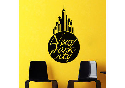 Kakshyaachitra New York City Wall Stickers For Bedroom And Living Room, 14 24 inches