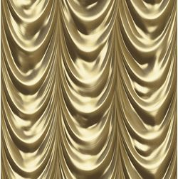 Elementto Stylish Curtain Look Design Modern 3D Wallpaper for Walls - td30301, gold