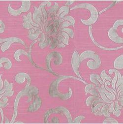 Rangshri Floral Curtain Fabric - 37, pink, fabric
