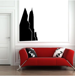 Kakshyaachitra New York Skyscrapers Wall Stickers For Bedroom And Living Room, 27 48 inches