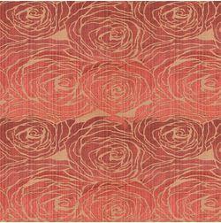 Constellation Floral Curtain Fabric - MI106, orange, fabric