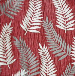Sonalika Floral Curtain Fabric - 21, red, fabric