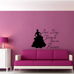 Kakshyaachitra Live in Paris Wall Stickers For Bedroom And Living Room, 24 17 inches