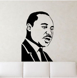 Kakshyaachitra Martin Luther King Jr. Wall Stickers For Bedroom And Living Room, 48 74 inches