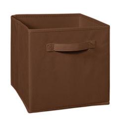 Storage Cube Box,  brown cube