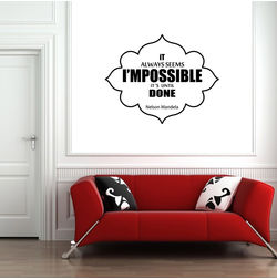 Kakshyaachitra It Always Seems Impossible Until It's Done Wall Stickers For Bedroom And Living Room, 48 38 inches