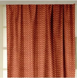Constellation Geometric Readymade Curtain - SI106, door, orange