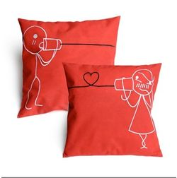 U & Me Cushion Cover MYC-75, pack of 1, red