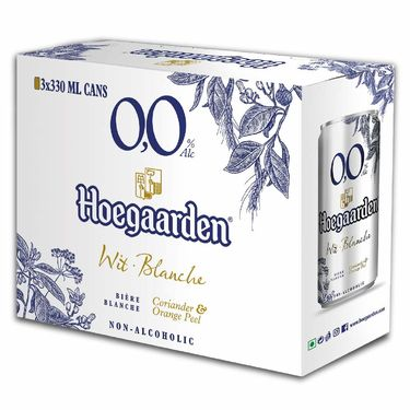 Hoegaarden 0.0 Non Alcoholic Wheat Beer Pack of 3, 3 x 330ml