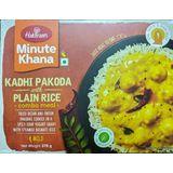 Haldirams Kadhi Pakoda with Plain Rice Combo Meal (Serves 2) 300g