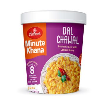 Dal Chawal (Serves 1) 90g, Haldirams Minute Khana, Ready to eat