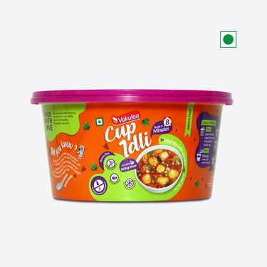 Mini Cup Idli (Serves 1) 80g, Ready to eat meal, Vakulaa