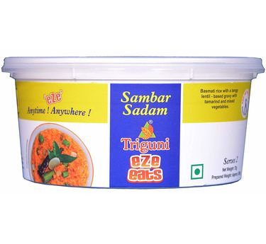 Sambar Rice (Serves 2) 72g, Triguni Eze Eats, Ready to eat