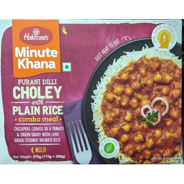 Haldirams Choley with Plain Rice Combo Meal (Serves 2) 300g