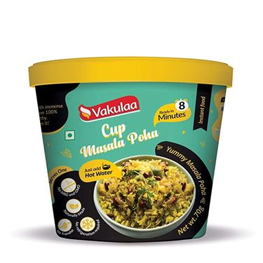 Cup Masala Poha (Serves 1) 70g, Ready to eat meal, Vakulaa